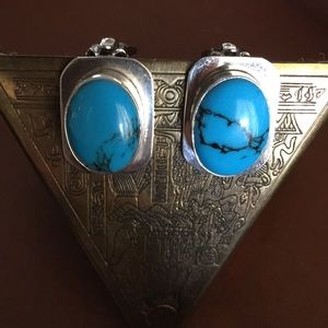 Earrings 925 Silver with Turquoise
